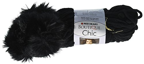 Red Heart Boutique Chic Yarn, (Chenille Knitting Patterns)
