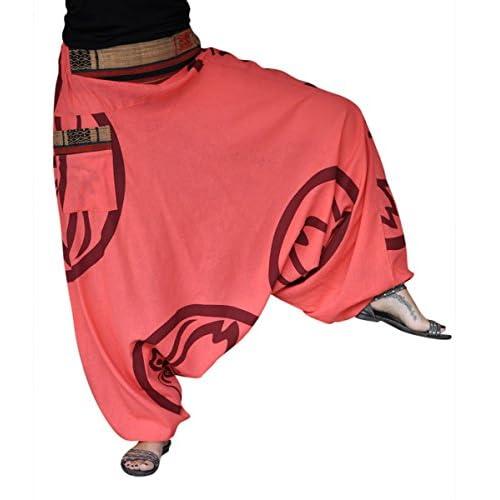 c4b849ea6d13 high-quality virblatt pantalones bombachos hombre y mujer con tejidos  tradicionales talla única pantalones cagados
