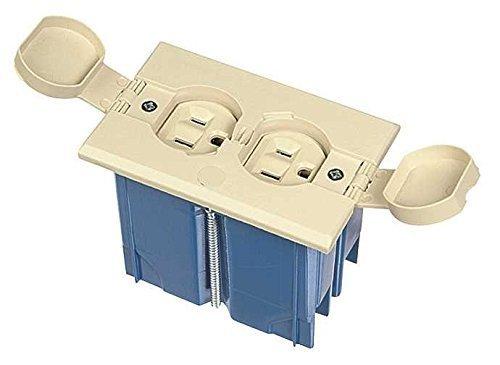 Carlon B121BFBRR Adjustable Floor Box, Plastic, 1'' x 1'' x 1''