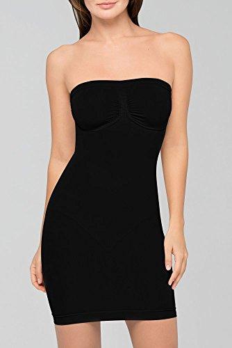 - David's Bridal Body Wrap Seamless Bra Slip with Underwire Style 47200, Black, S