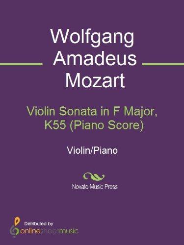 Violin Sonata in F Major, K55  Piano Score