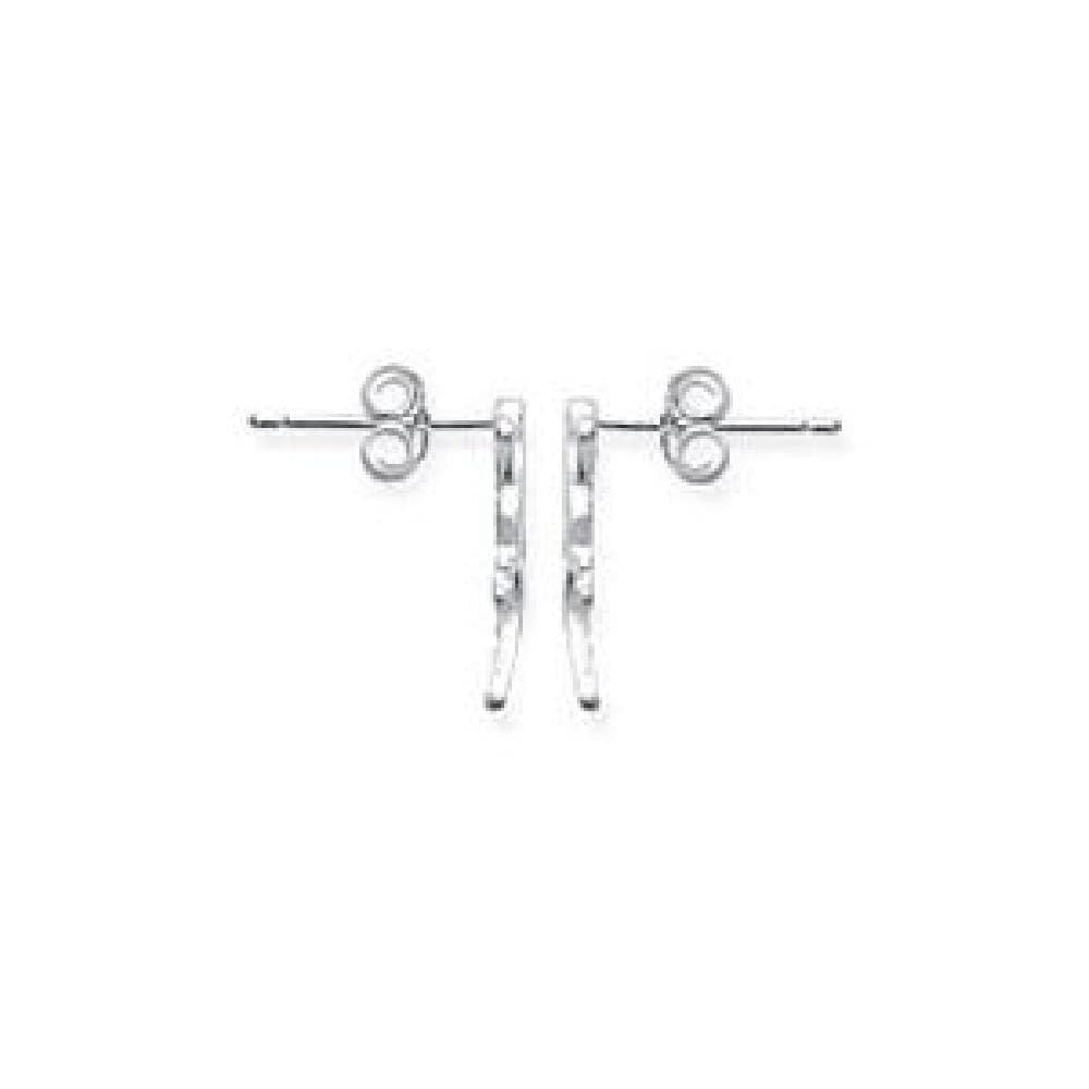 So Chic Jewels 925 Sterling Silver Lizard Salamander Gecko Stud Earrings