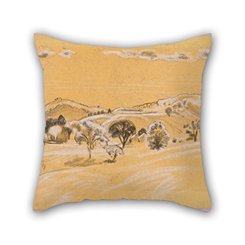 Loveloveu Throw Cushion Covers Of Oil Painting Arthur B. Davies - White Black Chalk Landscape From A.B. Davies Book, Edition -38, 50 20 X 20 Inches / 50 By 50 Cm,best Fit For Kitchen,couch,husband,
