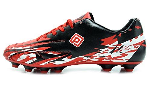 TRAUM-PAARE 151028-151030 Sport-flexibler athletischer freier Laufender Leichtgewichtler der Männer Innen- / im Freien schnüren sich herauf Fußball-Schuhe 151027-m-rot-schwarz-weiß