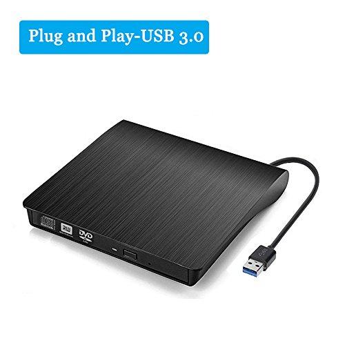 Portable External CD DVD Drive USB 3.0 Slim CD DVD +/-RW Drive Rewriter Burner,High Speed Data Transfer for Macbook Air Pro/iMac/MacOS/Laptop/Desktops Windows/Vista/7/8/10 (Music Cd Burner)