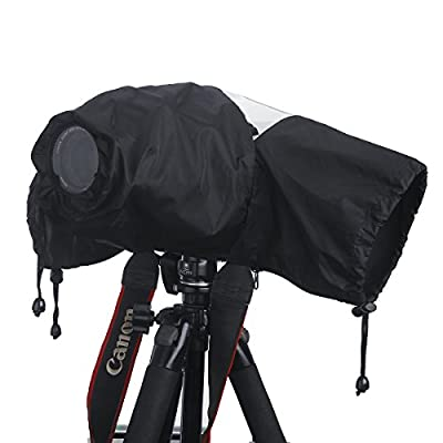 Professional Waterproof DSLR Camera Rain Cover (Japanese Taffeta Material), Great for Rain Dirt Sand Snow Protection from waka