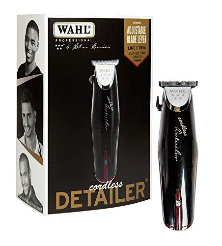 (Wahl Professional 5-Star Cordless Detailer #8163 - Great for Professional Stylists and Barbers - Rotary Motor - Black)