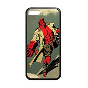 Hellboy Cell Phone Protector for iPhone 5C Plastic and TPU (Laser Technology)