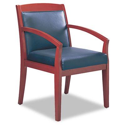 Leather Guest Chair Finish: Sierra Cherry - Cherry Sierra Chair Guest