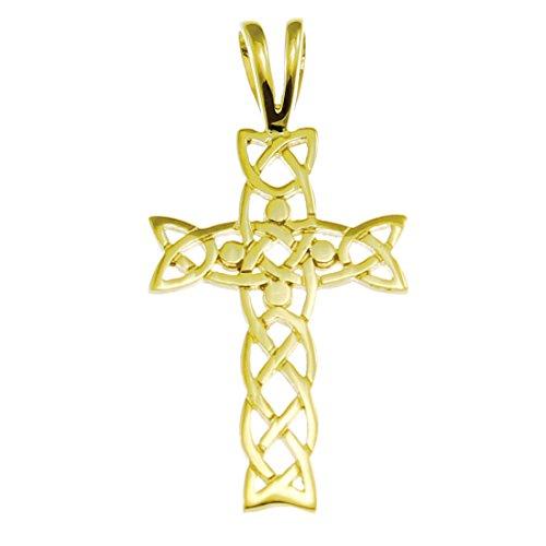 Alexander Castle Pendentif en or 9carats en forme de croix celtique avec boîte cadeau