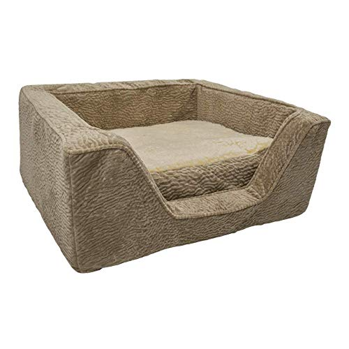 Snoozer Luxury Square Dog Bed with Memory Foam