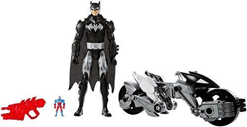 Boneco e Personagem Liga da Justiça Fig e Veiculo Mattel