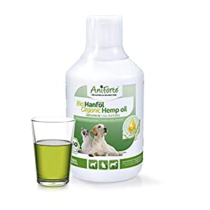 AniForte Organic Hemp Oil for Dogs & Cats 500ml – Joint Supplement for Pets, Supports Immunity, Coat, Skin and Joint Pain Relief, Anti-Inflammatory BARF Supplement, Rich in Omega 3 & 6