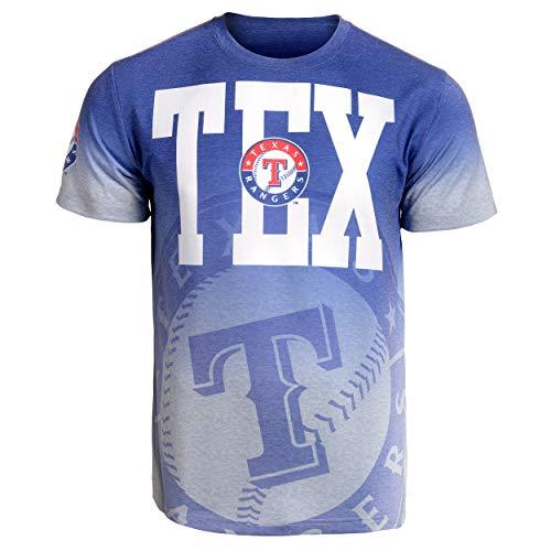 (Texas Rangers Gray Gradient Tee Large)
