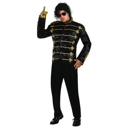 Deluxe Michael Jackson Jacket Adult Costume Military Jacket (Black) - Medium