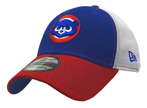 New Era 2019 MLB Chicago Cubs Hat Cap Cooperstown '84 Practice 39Thirty (S/M) Royal/Red ()