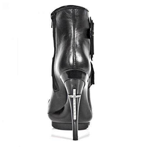 Nuovi Stivali Da Roccia M.punk063-s1 Gotico Hardrock Punk Damen Stiefel Schwarz