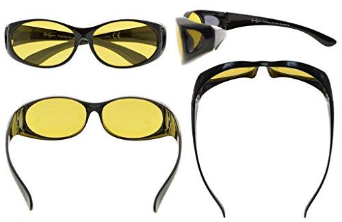Eyekepper Polarisee Anti lumiere bleu Photochromique verre lunettes de soleil (noir/jaune verre)