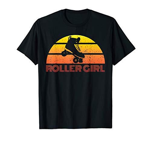 Womens Vintage Roller Skating Girls Shirt Skates 80s Gift T-Shirt from Retro Roller Skate TShirts for Roller Girls