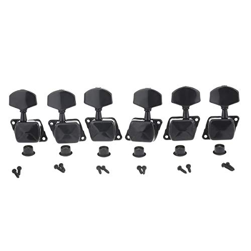 Musiclily Pro 3R3L Semi Closed Guitar Tuners Tuning Machines Set for Electric or Acoustic Guitar, Black