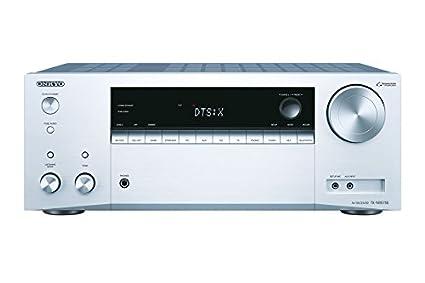 Onkyo TX-NR575E-S - Receptor AV 7.2 (130 W por Canal, Dolby Atmos, DTS, WiFi, Bluetooth, Fireconnect) Color Plata