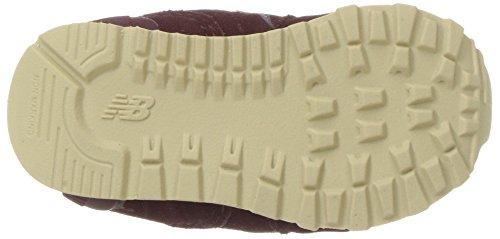 New Balance Unisex-Kinder Kl574 Kurzschaft Stiefel Rot (Burgundy)
