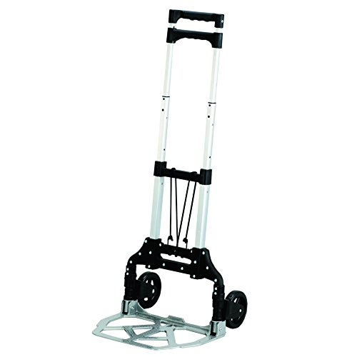 - Safco Products 4049NC Stow and Go Utility Hand Truck, Silver/Black