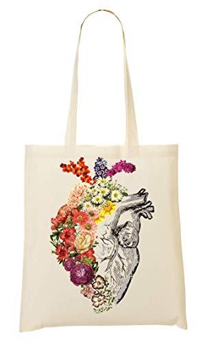 del fioritura borsa spesa del di arte del della di della fiore totalizzatore Sacchetto cuore primavera della qCS7xwA7