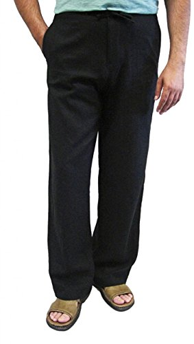 Chopp Shop Men's Linen/Rayon Drawstring Pants Large (Rayon Drawstring)