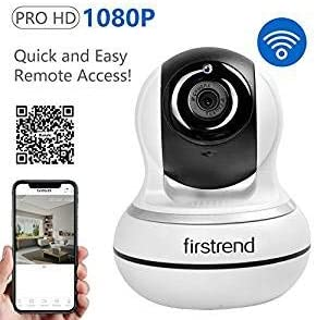 IP Camera, Firstrend 1080P HD Wireless Security Camera WiFi Surveillance Video Recorder with Two Way Audio Night Vision for Home Monitoring Pet Monitor