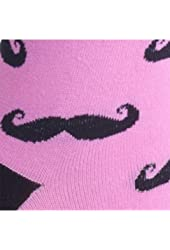 Sock It To Me Moustaches Knee High Women's Socks, one size, Pink
