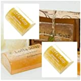 Saibua Handmade Thai Herbal Lemongrass & Honey Scrub Luffa Soap Bar 100 g x 3 Pcs. by LITTLE BEE 2017