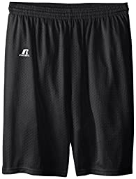 Russell Athletic Big Boys\' Youth Mesh Short, Black, Medium