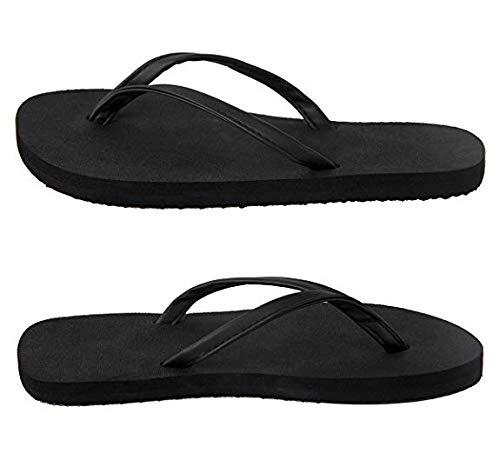 IUOUI A Beach Flops Sandal Black