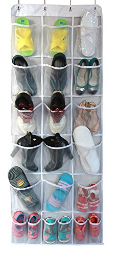 Misslo Mesh Waterproof Hanging Over the Door Organizer For Accessories Storage (15 Extra Large and 6 Middle Pockets)