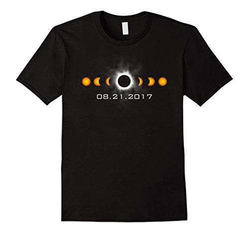 Mens Total Solar Eclipse August 21 2017 T Shirt Large Black