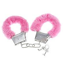 Onebest Soft Steel Fuzzy Furry Cuffs Working Metal Handcuffs