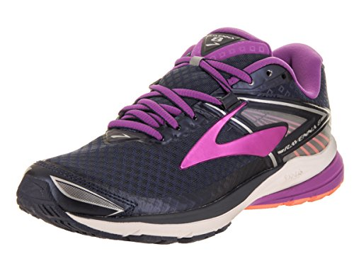 Brooks Women's Ravenna 8 Peacoat/Purple Cactus Flower/Fusion Coral 8.5 B US