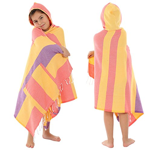 Convertible Backpack 100/% Cotton Beach Towel Backpack /& Poncho Soft /& Quick Drying Travel Towel for Kids and Baby Use Cacala Pure Series 3-in-1 Peshtemal Turkish Bath Towel Absorbent