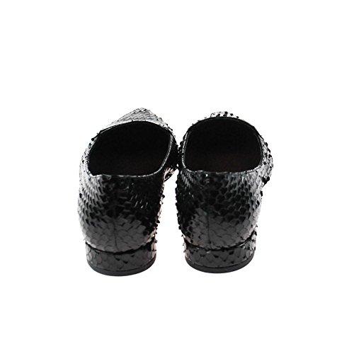 Perlato 8725 Cobra Noir - Bailarinas para mujer negro