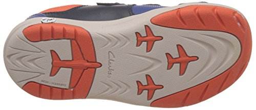 Clarks JetSky Buzz Boys Casual Infant Trainers Blau