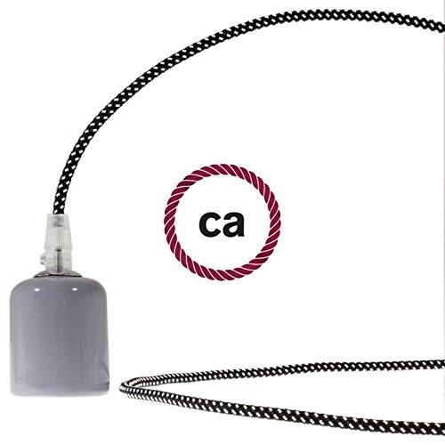Creative-Cables Cable eléctrico Redondo Recubierto en Tejido Tejido Tejido Efecto 3D en Relieve Estrellas RT41-50 Metros, 2x0.75 483c3f