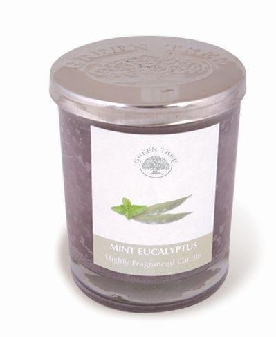 GREEN TREE CANDLE 0805460312140 Eucalyptus Mint Scented Candle