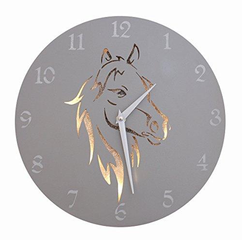 Horse Wall Clock - 'A Silver Spirit' (13