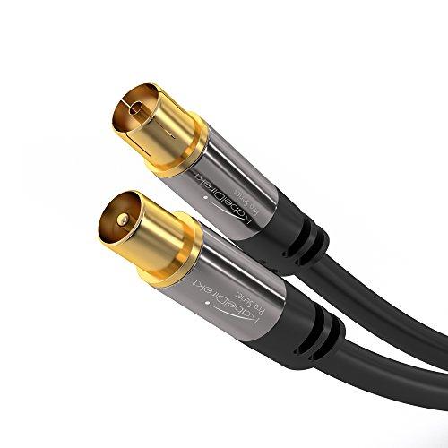 KabelDirekt 2m Cavo Antenna Coassiale, (Classe A, supporta HDTV schermatura effettivo di 100 dB, trasmissione di segnali HD, televisori, ricevitori), PRO Series