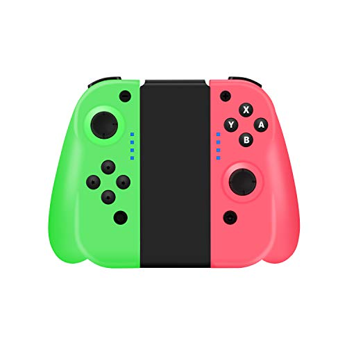 STOGA Wireless Controller Compatible for Nintendo Switch Console, Wireless Controller Gamepad with 6-Axis Sensing & Vibration Feedback (Green-Pink)
