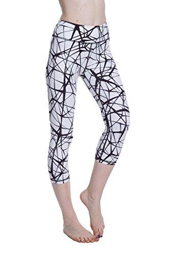 Women's Compression Capri's (T Black - L) - Body Slimming for Yoga, Hidden Pocket, Amazing Workout Pants