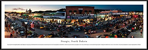 Blakeway Worldwide Panoramas Sturgis, South Dakota-75th Anniversary-Blakeway Panoramas Skyline Posters, Standard Frame