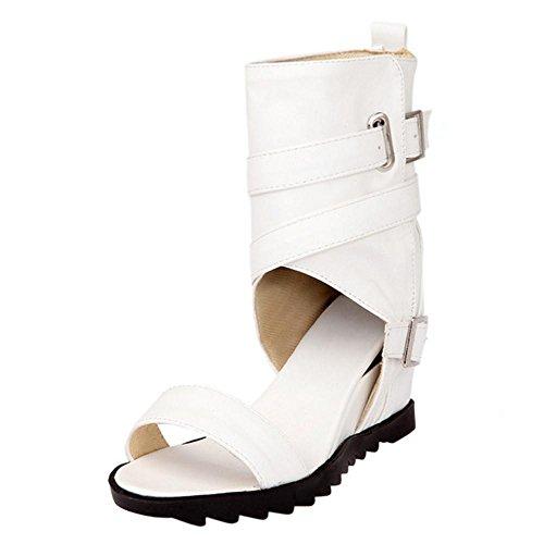 TAOFFEN レディース 夏ブーツ オープントゥ グラディエーター 靴