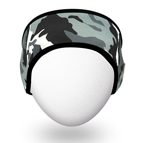 Qshell Outdoor Bluetooth Headband with Wireless Headphone Headset Earphone Stereo Speakers Microphone Hands Free for Gym Fitness Sports, Compatible with Iphone Android Cell Phones - Urban Camouflage